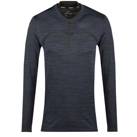 Golf undefined Womens Dry Top Half Zip Mid Layer Royal Tint - AW18 made by Nike Golf