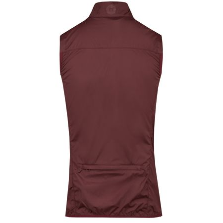Golf undefined Womens Lilly Trusty Vest Dark Mahogany - AW18 made by J.Lindeberg