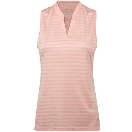 Golf undefined Womens Zonal Cooling Sleeveless Polo Storm Pink - AW18 made by Nike Golf