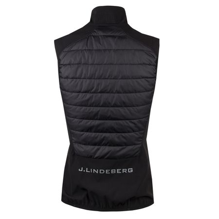 Golf undefined Womens Hybrid Vest Mixed Poly Black - 2019 made by J.Lindeberg