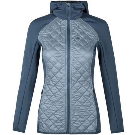 Golf undefined Womens Atna Hybrid Hood Grey Melange made by J.Lindeberg