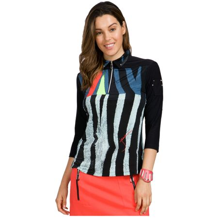 Golf undefined Jamie Sadock 3/4 Sleeve Vertical Stripe Top made by Jamie Sadock
