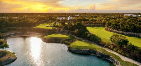 Overview of golf course named Riviera Maya Golf Club