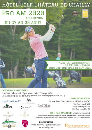 Hosting golf course for the event: Château de Chailly Pro-Am 2020