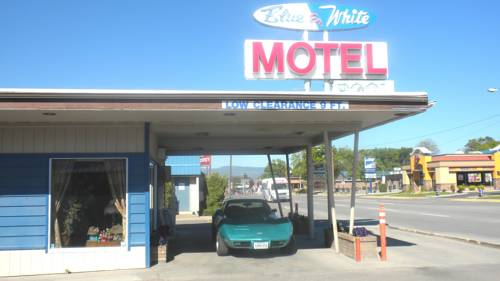 Blue and White Motel Cover Picture