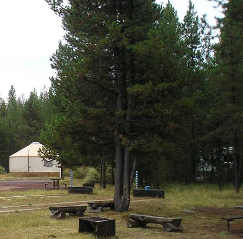 Bend-Sunriver Camping Resort 16 ft. Yurt 11 Cover Picture