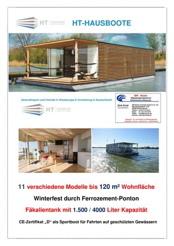 Hausboot HT 5 / Houseboats Cover Picture