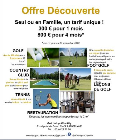 Golf lys chantilly post image